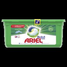 Капсулы для стирки Ariel Pods Все-в-1 Горный Родник, для белых и цветных тканей, 27 шт.