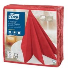 Декоративные салфетки Tork LinStyle Premium, 39х39 см, 50 шт., красный