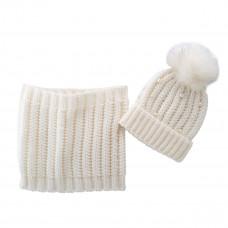 Комплект Snow white: шапка и шарф