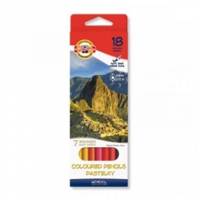 Набор цветных карандашей Koh-i-Noor 7 чудес, 18 шт. (3653018027KS)