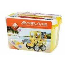 Магнитный конструктор Magplayer, 68 элементов (MPT2-68)
