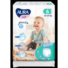 Подгузники-трусики Aura Baby 6/XXL (16-25 кг), 37 шт.