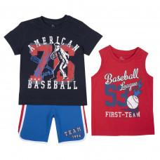 Костюм Basetball: футболка, майка и шорты