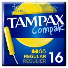 Тампоны Tampax Compak Regular Duo, с аппликатором, 16 шт.