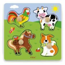 Пазл-вкладыш Viga Toys Ферма (50839)