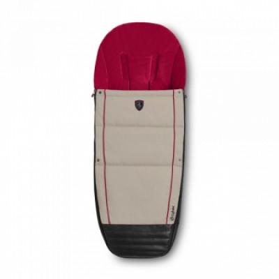 Чехол для ног Cybex Silver Grey, светло-серый с красным и черным (519000122)