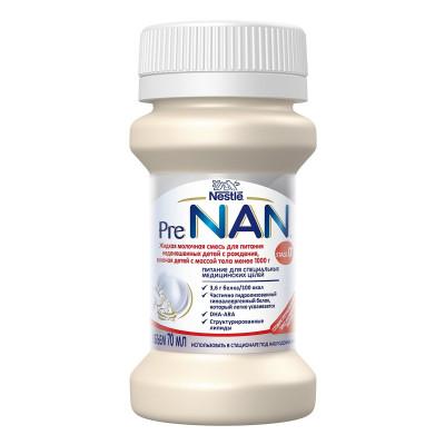 Жидкая молочная смесь Pre NAN 70 мл 12283452 ТМ: NAN