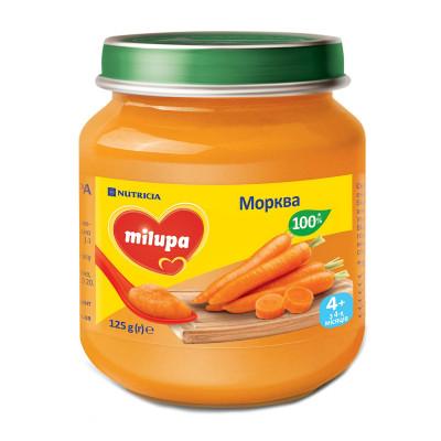 Детское пюре Milupa Морковь 125 г 149261 ТМ: Milupa