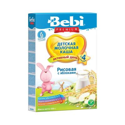 Детская рисовая молочная каша Яблоко, 250 г 140414 ТМ: Bebi Premium