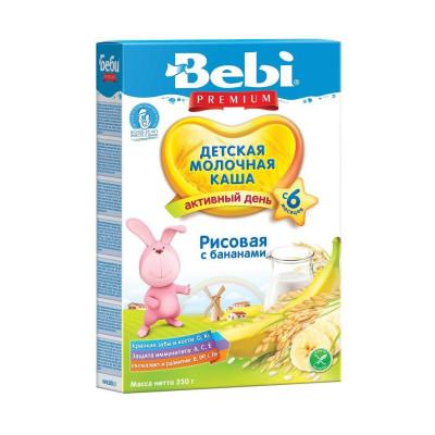 Детская рисовая молочная каша Банан, 250 г 140406 ТМ: Bebi Premium