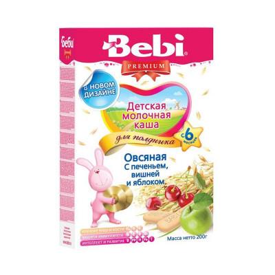 Каша для полдника Печенье с вишней и яблоком, 200 г 1003409 ТМ: Bebi Premium
