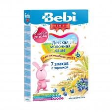 Детская молочная каша 7 злаков с черникой, 200 г 1002706 ТМ: Bebi Premium