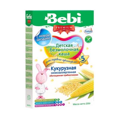 Безмолочная каша Кукурузная низкоаллергенная, 200 г 1002618 ТМ: Bebi Premium
