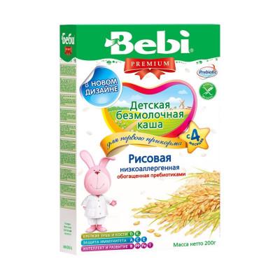 Безмолочная каша Рисовая низкоаллергенная, 200 г 1001540 ТМ: Bebi Premium
