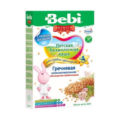 Детская безмолочная каша Гречневая низкоаллергенная, обогащённая пребиотиками, 200 г 1002625 ТМ: Bebi Premium