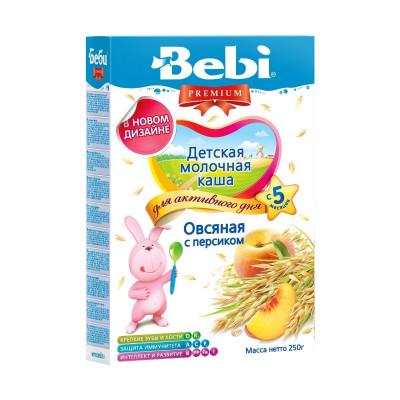 Детская молочная каша  «Овсяная с персиком», 250 г. 150274 ТМ: Bebi Premium