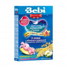 Молочная каша 3 злака с яблоком и ромашкой, 200 г  ТМ: Bebi Premium