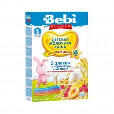 Молочная каша Bebi 5 злаков с малиной и абрикосом, 200 г 1104898 ТМ: Bebi Premium