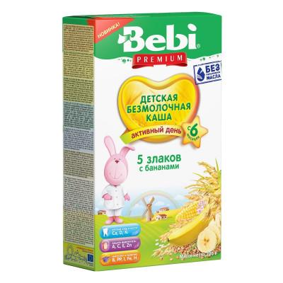 Каша безмолочная Bebi Premium 5 злаков с бананом 200 г 1008120 ТМ: Bebi Premium