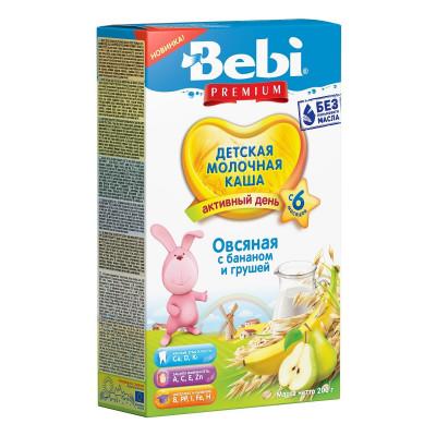 Каша молочная Bebi Premium Овсяная с бананом и грушей 200 г 1008079 ТМ: Bebi Premium