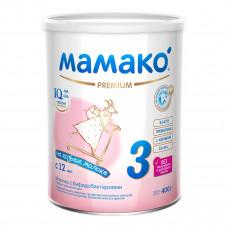 Молочко с бифидобактериями Мамако 3 Premium на козьем молоке 400 г  ТМ: Мамако