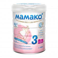 Молочко с бифидобактериями Мамако 3 Premium на козьем молоке 800 г  ТМ: Мамако