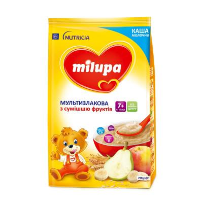 Каша молочная мультизлаковая со смесью фруктов, 210 г. 578515 ТМ: Milupa