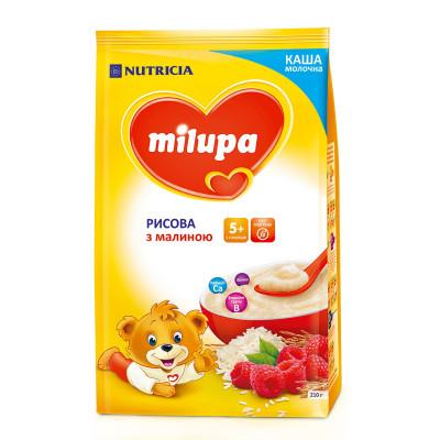 Каша молочная рисовая с малиной, 210 г. 578511 ТМ: Milupa
