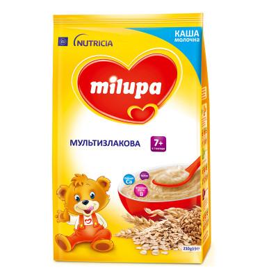 Каша мультизлаковая Milupa молочная быстрорастворимая 210 г  ТМ: Milupa