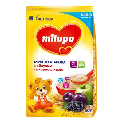 Каша молочная Milupa Мультизлаковая с яблоком и черносливом 210 г 157025 ТМ: Milupa