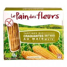 Безглютеновые хлебцы кукурузные Le Pain des Fleurs Органические, 150 гр 7729 ТМ: Le Pain des Fleurs