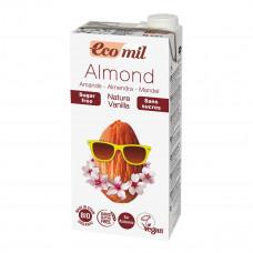 Органическое миндальное молоко с ванилью без сахара Eco mil, 1 л 230252 ТМ: Eco mil