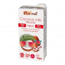 Органическое молоко Eco mil Кокос-миндаль без сахара, 1 л 230290 ТМ: Eco mil