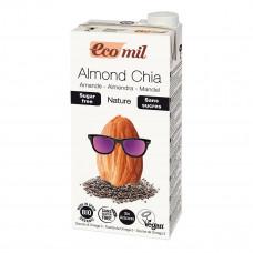 Органическое молоко Eco mil из миндаля с семенами чиа без сахара, 1 л 192406 ТМ: Eco mil