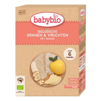 Каша органическая Babybio Злаковая с фруктами и киноа 200 г 50415 ТМ: Babybio