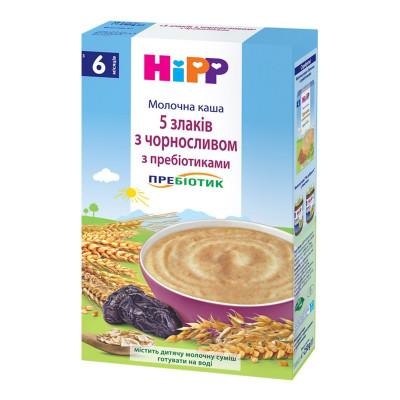 Каша молочная HiPP 5 злаков с черносливом с пребиотиками 250 г 2918 ТМ: HiPP