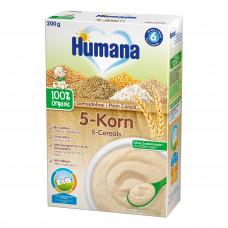Органическая безмолочная каша Humana 5 злаков, 200 г 77562 ТМ: Humana