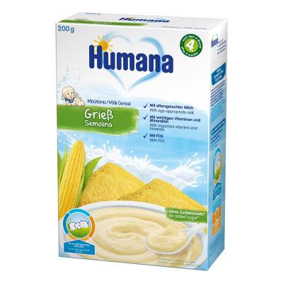 Каша молочная Humana с кукурузой, 200 г 77561 ТМ: Humana