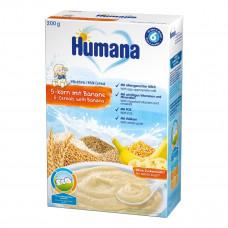 Каша молочная Humana с 5-ю злаками и бананом, 200 г 77554 ТМ: Humana