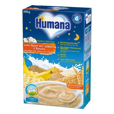 Каша молочная Humana Сладкие сны с 5-ю злаками и бананом, 200 г 77559 ТМ: Humana