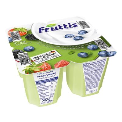 Йогурт Fruttis Легкий Черника и Лесные ягоды 4х125 г 78443 ТМ: Fruttis