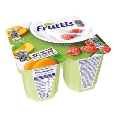 Йогурт Fruttis Легкий Абрикос Малина 4х125 г 78443 ТМ: Fruttis
