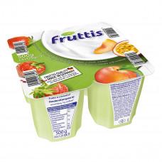 Йогурт Fruttis Легкий Клубника Персик-Маракуйя 4х125 г 734678 ТМ: Fruttis