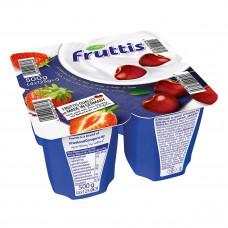 Йогурт Fruttis Сливочное наслаждение Клубника Вишня 4х125 г 732672 ТМ: Fruttis