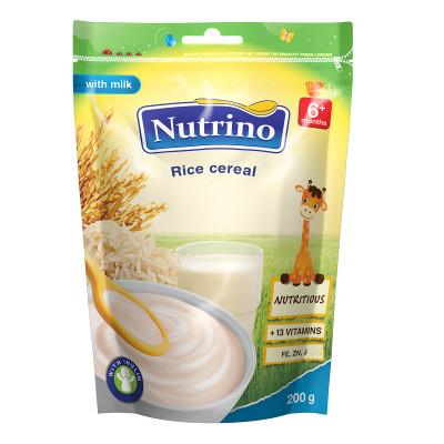 Каша Nutrino молочно-рисовая 200 г  ТМ: Nutrino