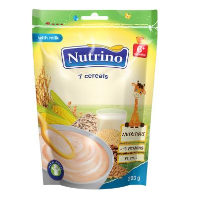 Каша Nutrino молочная 7 злаков 200 г, 9 шт  ТМ: Nutrino