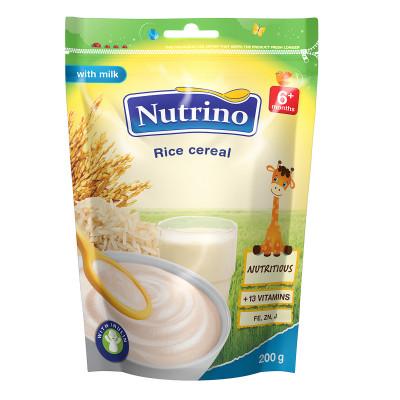 Каша Nutrino молочно-рисовая 200 г, 9 шт  ТМ: Nutrino