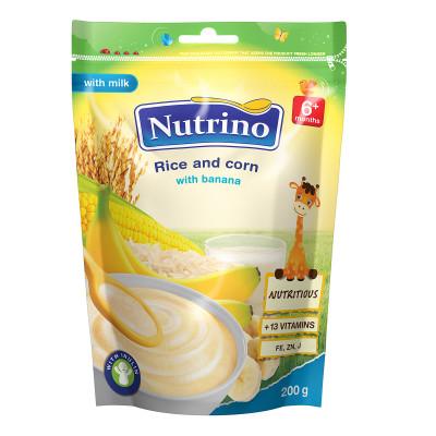 Каша Nutrino молочная рис и кукуруза с бананом 200 г  ТМ: Nutrino