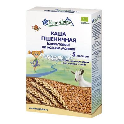 Каша Fleur Alpine пшеничная (спельтовая) на козьем молоке 200 г  ТМ: Fleur Alpine