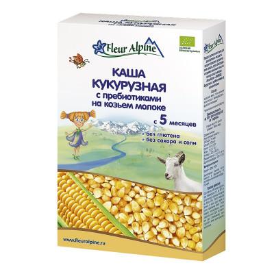 Каша Fleur Alpine кукурузная с пребиотиками на козьем молоке 200 г  ТМ: Fleur Alpine